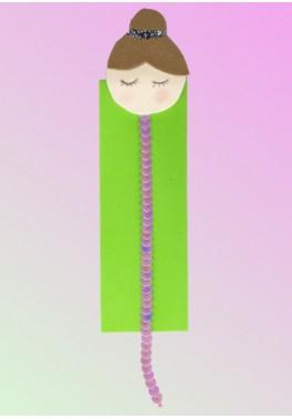 Marcapáginas gimnasta-verde